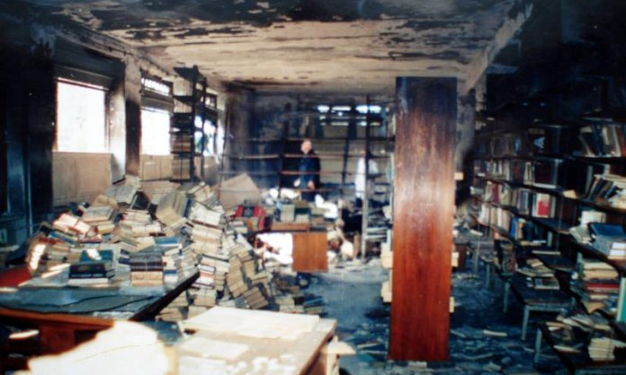 Abkhazia's Library burnt down