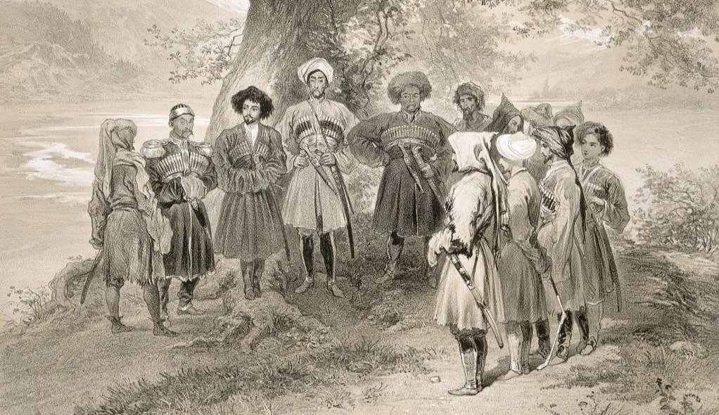 The Ubykh and Abkhazian leaders in the Sochi valley 1841