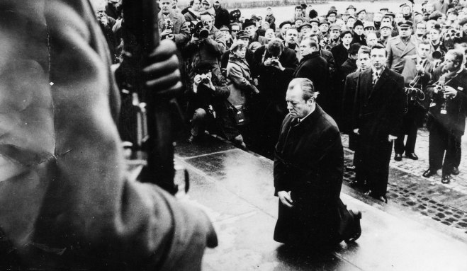 Former German Chancellor Willi Brandt famously knelt before the Warsaw Ghetto Uprising Memorial
