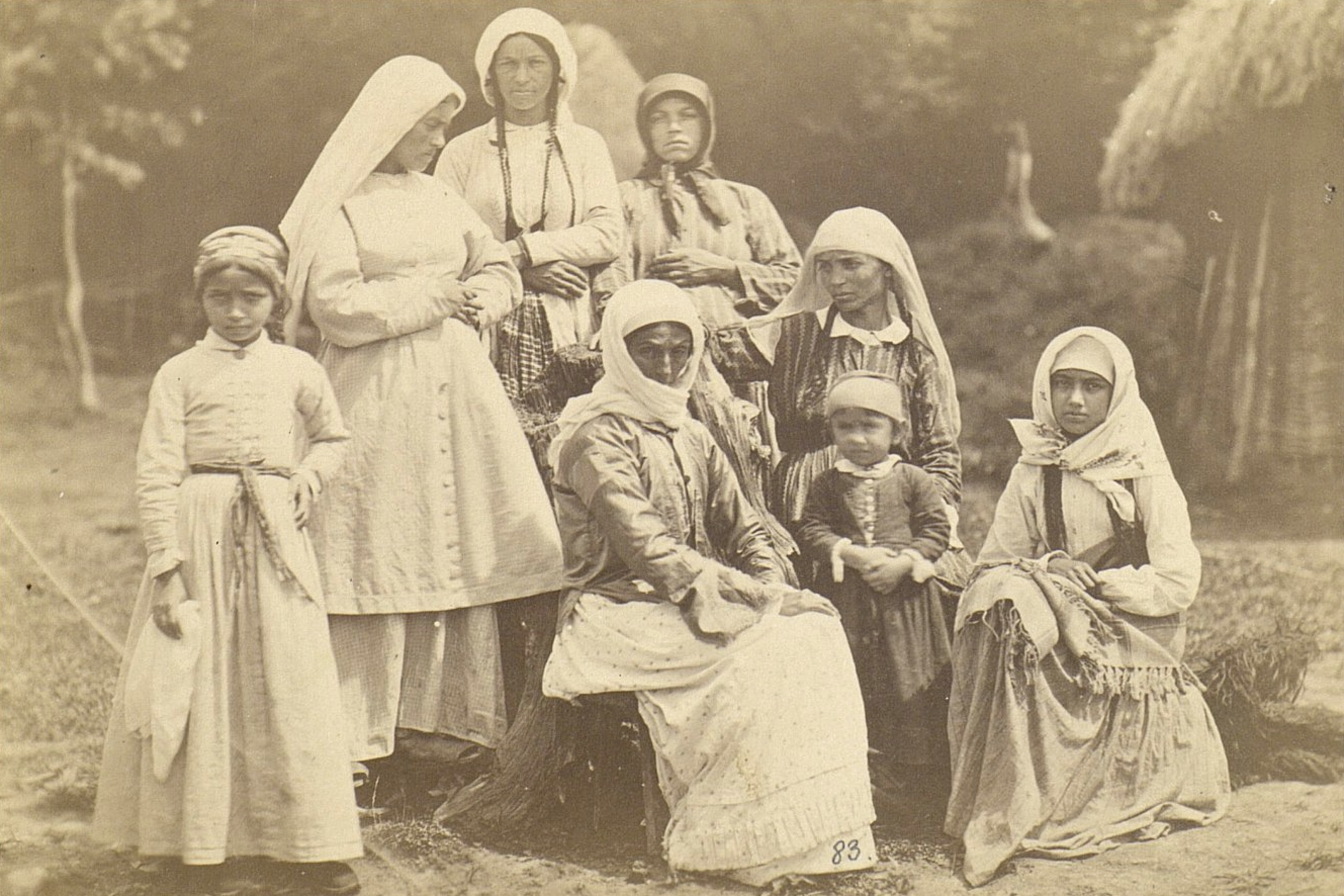 Abkhaz women in the second half of the 19th century
