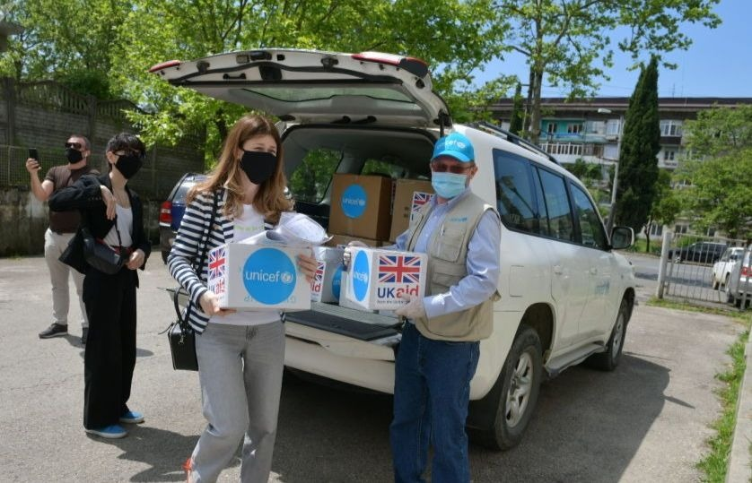 UNICEF has sent humanitarian aid to a children's clinic and a maternity hospital in Abkhazia