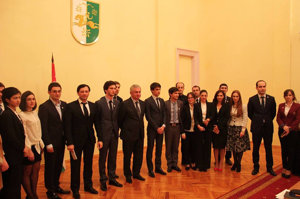 President of Abkhazia Khajimba met with young diplomats and students of the Abkhaz State University.