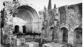 Tsandripsh: The church in Abazgia, built under Justinian I.