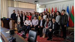 Members of Abkhazia's Councils of Young Diplomats take part in a UNPO training in Sukhum, May 2019.
