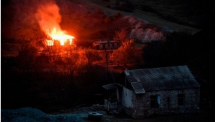 Armenians in Nagorno-Karabakh Burn Down Homes Ahead of Azerbaijan Handover.