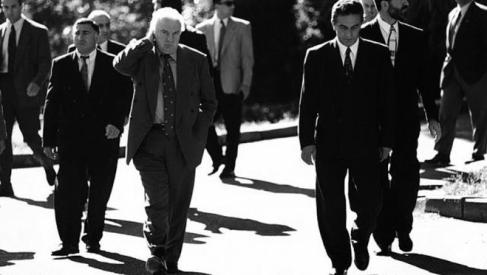 Eduard Shevardnadze (left) and Vladislav Ardzinba - Georgian - Abkhaz Conflict