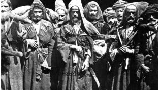 Abkhazians who took part in the 1866 Lykhny rebellion. Photo by Dmitri Yermakov (1846-1916).